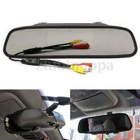 """4.3"""" TFT LCD Color Car Rear view Mirror Monitor For Screen Reverse Camera DVD US"""