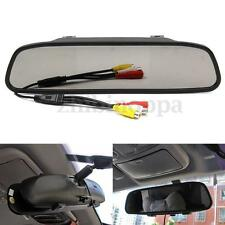 "4.3"" TFT LCD Color Car Rear view Mirror Monitor For Screen Reverse Camera DVD US"