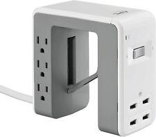 New Apc Pe6U4W U-Shaped Desk Clamp Surge Protector 6 Outlets & 4 Usb Ports