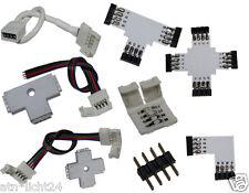 SMD RGB LED barra strip 4 pol embrague enchufe los conectores conector adaptador l T