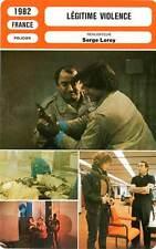 FICHE CINEMA : LEGITIME VIOLENCE - Brasseur,Genest,Kaprisky,Lambert,Leroy 1982