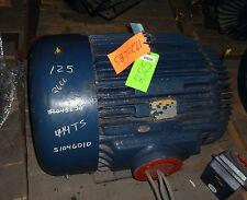 Marathon Electric Motor 125hp  3570rpm  460volts  PH3 with Impro Seal *Rebuilt*