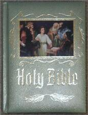 LEATHERBOUND CATHOLIC HEIRLOOM HOLY BIBLE ~ PROFUSELY ILLUS ~ GIFTABLE CONDITION