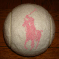 RALPH LAUREN POLO Tennis Ball US OPEN autograph white POLO Pink Tournament
