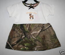 REALTREE CAMO CAMOUFLAGE EMBROIDERED DRESS BABY INFANT TODDLER