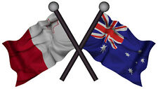 AUSTRALIA MALTA DECAL 2014 STYLE GLOSS LAMINATED CONTOUR CUT 100MM BY 56MM