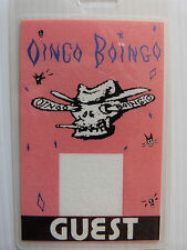 Oingo Boingo Laminated GUEST Backstage Tour Pass