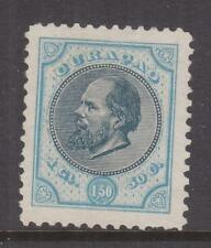 CURACAO, 1889 perf. 11 1/2, 1g.50 Indigo & Pale Blue, mint no gum as issued.