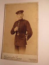 Dresden - stehender Soldat in Uniform - Regiment Nr. 108 / CDV