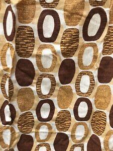 Retro Fabric Curtain 70s Vintage