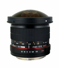 Rokinon HD8M-C 8mm f/3.5 HD Fisheye Lens with Removeable Hood for Canon DSLR ...