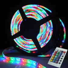 5M 300Leds 3528 RGB Nonwaterproof Flexible LED Strip Fairy Light / 24Keys Remote