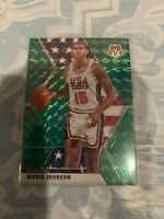2019-20 Panini Mosaic Green Prizm Team USA #255 Magic Johnson SP