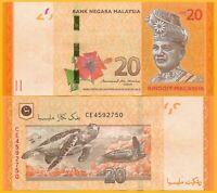 Malaysia 20 Ringgit p-54b 2011 UNC Banknote