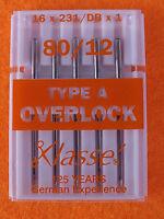 Klasse Overlock  TYPE A   Overlocking Machine Needles 80/12