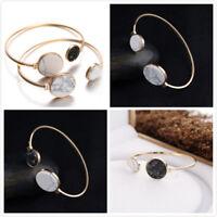Fashion Women Punk Marble Cuff Bracelet Bangle Chain Wristband Jewelry Gift