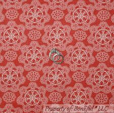 BonEful FABRIC FQ Cotton Quilt Red Cow*girl Country Texas Star Lace Damask Toile