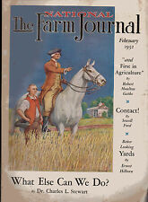 The Farm Journal, Febn 1932, Home Laundering, Chick Insurance, Curing Pork
