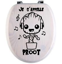 Sticker Je s'appelle proot - autocollant Groot - abattant wc - toilette Humour