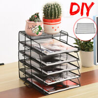 Metal Filing Letter Trays Stacking Office A4 Desk Tidy Paper Document