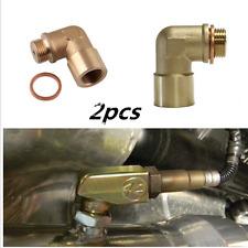 Oxygen O2 Sensor Spacer Extender Header Pipe 90 Degree Angle Kit M18 x 1.5 -2pcs