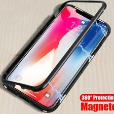 2 In 1 Magnetic Absorption Phone Case for iPhone X Luxury Clear