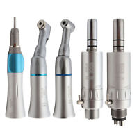 Straight Nose Contra Angle Air Motor Dental Low Speed Handpiece Turbine 2/4Holes