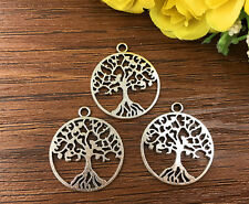 4pcs Tree of Life Tibetan Silver Bead charms Pendants DIY jewelry 28x25mm J143