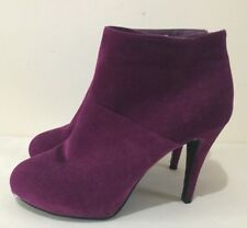 Size AU 10 / EUR 41 Women's Smoke Purple Suede With Mini Platform Ankle Boots