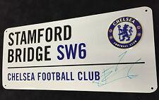 Andriy Andrei SHEVCHENKO Autographed Street Sign AFTAL Stamford Bridge CHELSEA