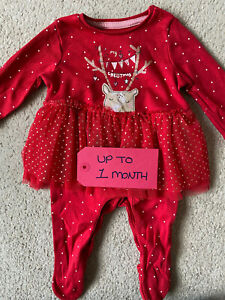 Baby Girl First Christmas Dress up to 1 month