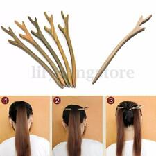 1 PC Wooden Hair Pin Stick Chopstick Wood Handmade Carved Hair Jewelry Random