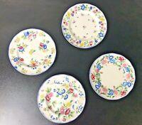 "Set 4 Laura Ashley Floral Hazelbury Dessert Bread Side Plates 6.75"" Across EUC"