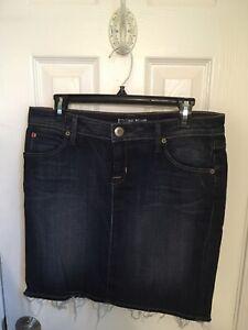 New w//Tag Women/'s Hudson Medium Blue Denim Skirt Size 30