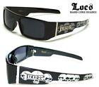 Locs Sunglasses - Square Wrap Around Frame - Skull Print - FREE POST AUS