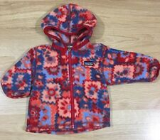 Patagonia Full Zip Fleece Baby Toddler Size 6 Months Girls Multicolored