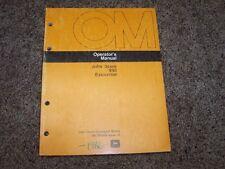 John Deere 990 Excavator Factory Operator Owner User Guide Manual OM T80859