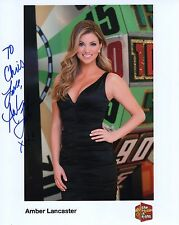AMBER LANCASTER AUTHENTIC SIGNED 8x10 PHOTO     PRICE IS RIGHT MODEL    TO CHRIS