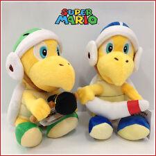 "2X Super Mario Bros Boomerang & Hammer Koopa Plush Soft Toy Stuffed Animal 8"""