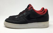 Nike Air Force 1 One Mens Low Premium Red Shoes Size 10  318775-002 GUC
