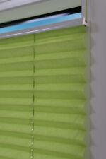 Plissee 55x140cm grün-crash für Fenster Tür Faltrollo Klemmfix ohne Bohren