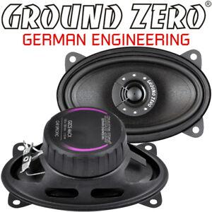 "Ground Zero GZCS 46CX 10 x 15cm ( 4x6"" ) 2 Wege oval Lautsprecher Paar & Gitter"
