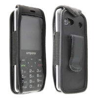 Smartphone / Feature-Phone Case for Emporia TalkSmart Leather-Case with belt cli