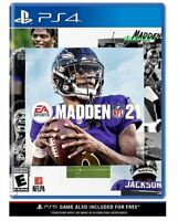 Madden 21 NFL Football PS4 PS5 PlayStation 4/5 New Factory Sealed Free Shipping