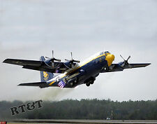 Photograph Blue Angels C-130 Aircraft Fat Albert with Takeoff Assist  2005  8x10