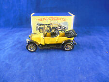 Scarce Matchbox Yesteryear Y13-2 1911 Daimler Type A12 Yellow Issue 1 Black Seat