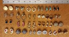 Mixed Lot 24 Pair of Clip on Earrings Veronese AKN KJL Kirks Folly Lisner Mexico