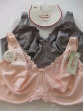 2 TWO PACK TRIUMPH Embroidered Minimizer Bra 14D / 36D Bra Pink Grey Rrp $90