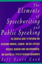 The Elements of Speechwriting and Public Speaking (Paperback or Softback)