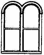 GRANDT LINE HO 1/87 SCALE WINDOWS DOUBLE ROUND TOP (4) | BN | 5212